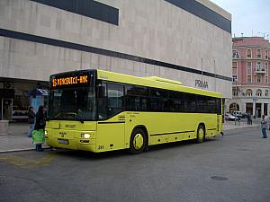 A photo of our local bus that we take to and from town sometimes.