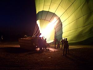 These were some heavy-duty balloon baskets. We went up with a balloon with 20 passengers and 1 pilot.