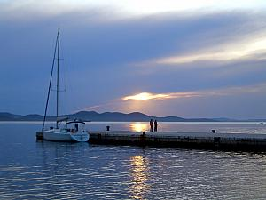 Sunset in Zadar.