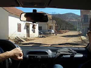 Driving through the new development of Dugopolje, where the roads aren't even paved yet.