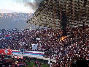 Some of the Torcida fans got carried away and managed to light their seats on fire.