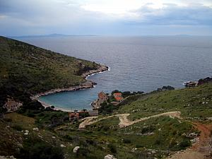 View from the bus back across Hvar island.