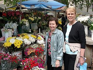 We stopped by the flower market.