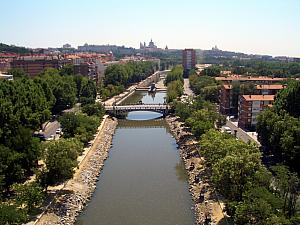 Gliding over Madrid's river.