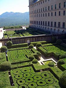 The gardens of El Real Monasterio del El Escorial