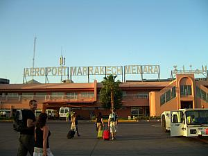 Arriving at the Marrekech airport