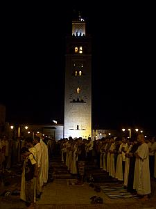 Our holiday took place during Ramadan. Here you see hundreds of men in the final prayer of the day, at about 10pm.