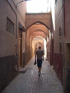 Heading out for the day. This was our Riad's street.