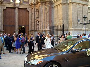 As we walked up to the cathedral, a wedding was letting out. Lucky us, we got a free entry into the cathedral, even though it was supposed to be closed.