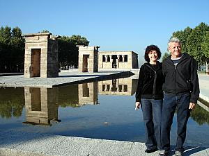Mom and Dad at the Temple of Debod