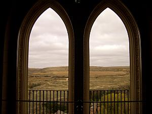Inside Alcazar, looking out onto the countryside