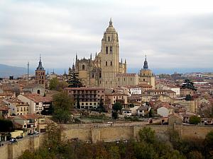 Segovia's cathedral, seen from the Alcazar