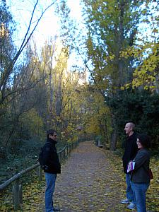 Taking a walk through the countryside, with our new friends Thibaut and Gaelle.