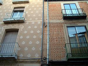The building facades in Segovia were very interesting.