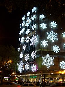 El Corte Inglés lit up for Christmas