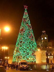 Plaza del Sol: Christmas Lights Tree Sculpture