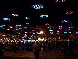 Christmas lights in Plaza Mayor