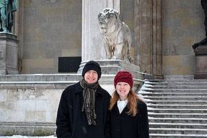 Jay and Kelly in Munich's historic district
