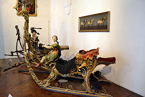 Nymphenburg's carriage and sleigh museum - a hunting sleigh.