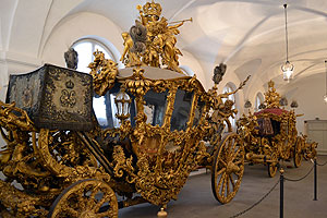 Nymphenburg's carriage and sleigh museum - amazing ornate royal carriage