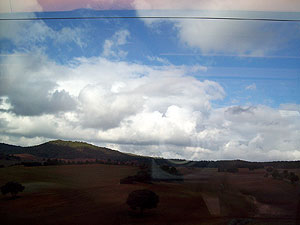 On the high speed Ave train to Cuenca, Spain - a 51 minute ride.