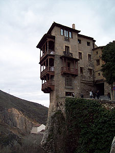 Cuenca's most famous hanging house. It is now an abstract art museum.
