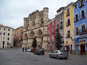 Cuenca's Cathedral in Plaza de Mayor. It was Spain's first Gothic style cathedral (built from 1196 to 1257)