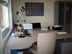 Kelly's desk at CATO Madrid