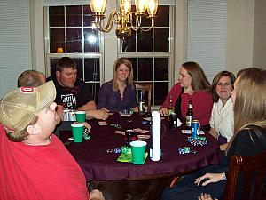 In Columbus visiting friends and playing poker