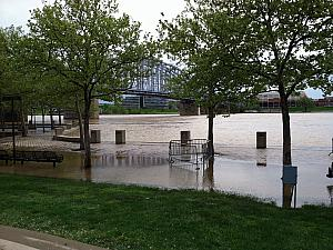 Ohio River flooding, April 2011, Serpentine Wall