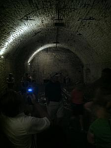 Cincinnati Underground Tour: this is a tunnel complex underneath an 1800s-era brewery. This is where they stored their barrels of beer to ferment.