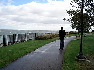 To get to Toronto, we drove from Cincinnati (500 miles, about 9 hours). Along the way, we stopped at a park along the Lake St. Clair (subsidiary of Lake Erie) in Michigan for lunch. It was a beautiful day, but brisk and very windy!