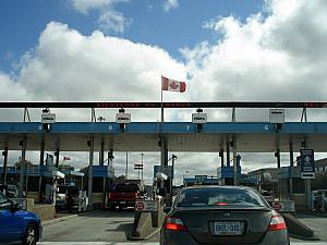 Crossing the border from Port Huron, Michigan to Point Edward in Ontario, Canada! My first time in Canada (not Kelly's).