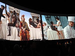 we arrived in Toronto on Saturday night, the same night as their all night Contemporary Arts Festival, called Nuit Blanche (French for White Night). There were about 50 art installations set up throughout town that were open from 7pm - 7am! 