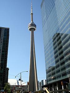 Toronto's CN Tower - when it was built - the tallest tower in the world, now just one of the tallest.
