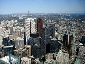 Toronto's Financial District, as seen from the CN Tower