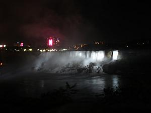 After a Saturday night, Sunday, Monday and Tuesday in Toronto, we drove to Niagara Falls Tuesday night -- here's our first view of the falls!