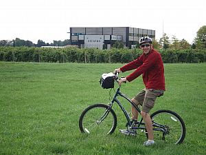 To get from winery to winery, we rented bikes and rode around all afternoon. We had a fantastic day for it.