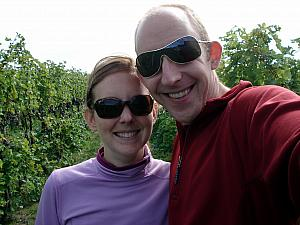 Both of us in the vineyard