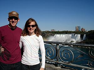 Here we are in front of the American falls