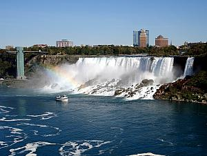 Another shot of the American Falls - traveler's tip -- make sure to visit the Canadian side of Niagara Falls, that's where all the views are!