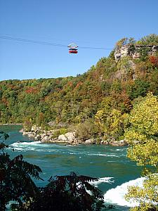 We spent our Friday on the New York side, starting off with a 4 hour hike downstream from the falls. We traveled down 450 steps into the gorge created by the Niagara Rver, and then along the river to see some incredibly powerful Stage 6 rapids (no rafting here - much too powerful), and back up.