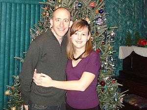 Jay and Kelly in front of the Christmas Tree