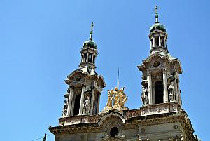 Buenos Aires, a church in the San Telmo district.