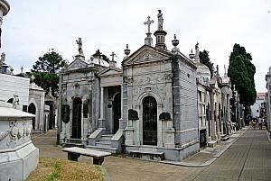 Buenos Aires - La Recoleta cemetery - it's famous because its jammed full of ornate mausoleums.