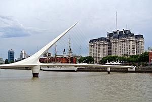 Buenos Aires - Puerto Madryn district - cool-looking walking bridge.