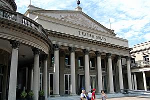 Montevideo, Uruguay: visiting the Teatro Solis, Uruguay's oldest theater.