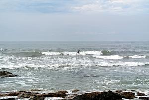 Punta del Esta - surfing in the Atlantic Ocean!