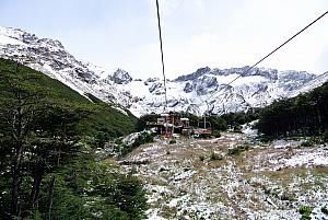 Ushuaia - riding on the ski lift