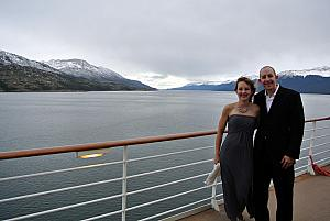 Formal night number two, nearing some glaciers, still a bit windy!